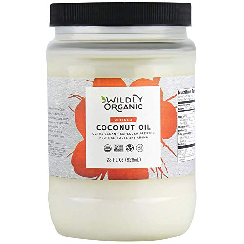 Wildly Organic Refined Coconut Oil – Organic Coconut Oil – Coconut Oil Organic – Pure Coconut Oil – Refined Coconut Oil – Coconut Oil Refined – Refined Coconut Oil For Cooking (28 Oz)