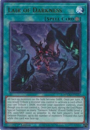 Lair of Darkness – MAGO-EN157 – Gold Rare – 1st Edition