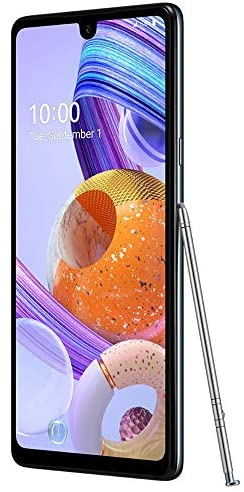LG K71 Stylus (128GB, 4GB) 6.8″ FHD+, 48MP Rear + 32MP Selfie, Dual SIM GSM Unlocked 4G LTE (T-Mobile, AT&T, Metro) Stylo 6 International Model LM-Q730 (Titan, Tone Free Bluetooth Bundle)