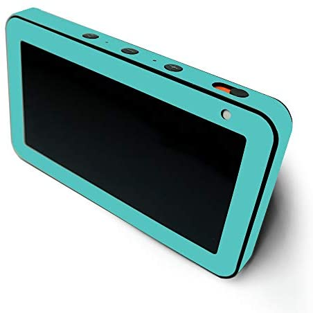 MIGHTY SKINS MightySkins Compatible with Amazon Echo Show 5 – Solid Turquoise | Protective, Durable, and Unique Vinyl Decal Wrap Cover | Easy to Apply, Remove, and Change Styles | Made in The USA