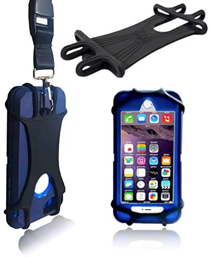 AH Universal Heavy Duty Cell Phone Carrying Lanyard Leash Neck Strap Tether Holder w/Quick Release Buckle – Smart Cell Phone Credit Card Holder Case for iPhone, Galaxy & Most Smartphone (Black)