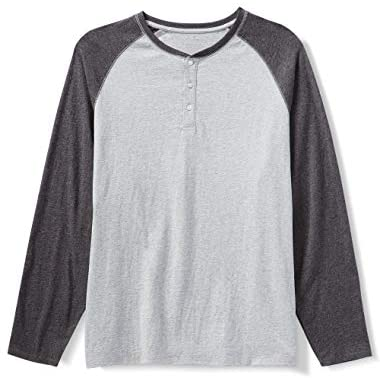 Amazon Essentials Men's Big & Tall Long-Sleeve Henley Shirt fit by DXL