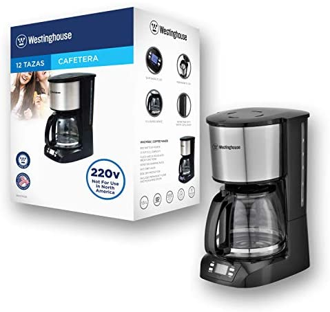 Westinghouse 220 volts coffee maker 220v 240 volt Digital Programmable Coffee Machine Permanent Filter & Hot Plate (NOT FOR USE IN USA)