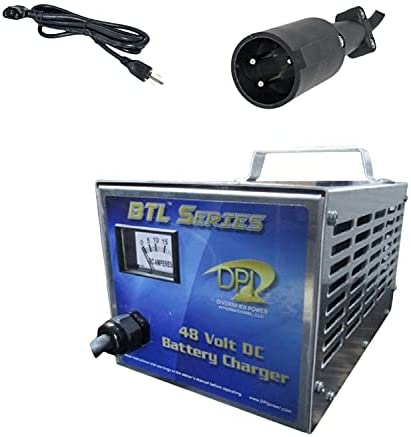 48volt 15amp Golf Cart PowerDrive Charger with Club car 3-pin Round Connector by DPI Gen IV