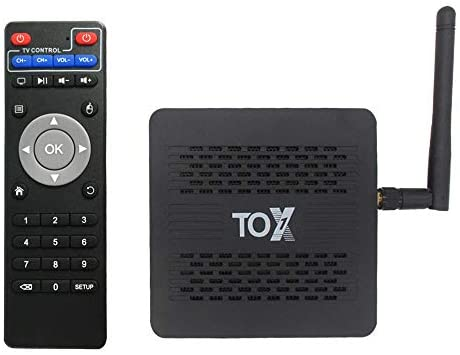 Android 9.0 TV Box, GISSO TOX1 Android TV Box 4GB RAM 32GB ROM,Android Box S905x3 Quad-Core 64bit with Dual-WiFi 2.4G/5GHz BT 4.2 1000M LAN