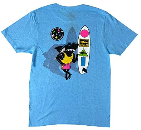 Maui & Sons Men's Graphic Short Sleeve Arnold Sharkley T-Shirt
