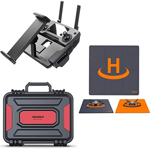 VCUTECH Mavic Air 2 Waterproof Hardcase with Drone Landing Pad, Tablet Holder Compatible with DJI Mavic Air 2 Drone/Fly More Combo & Drone Accessories