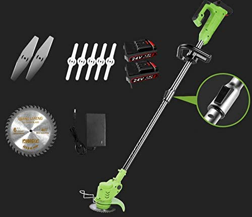JIAHENGY Electric Lawn Mower, Household Weeding Machine, Portable Garden Trimming Tool Lawn Machine hug-24V Two Electric one Charge (U-Shaped Handle)