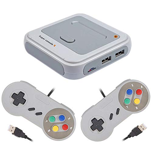 xiaolong R8 Wireless Retro Game Console, Built-in 30000 Classic Video Game Consoles with Dual USB Gamepad Support WiFi/LAN, Emulator Plug and Play TV Game Consol- 64G