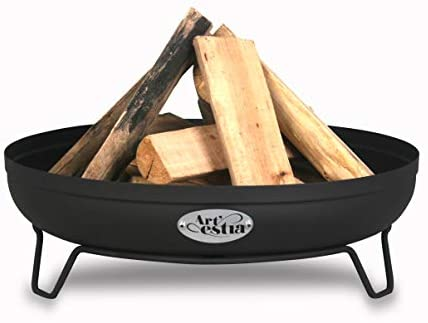 Artestia firepits for outside,24″ Metal Firepit in High Heat Resistant Powder Coating with Stand, Perfect for fire pits outdoor wood burning Bonfire, use in Yard, Patio, Camping, Poolside