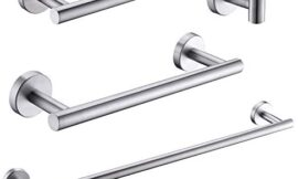 GIMILI 4 Piece Bathroom Hardware Accessories Set,SUS 304 Stainless Steel Wall Mounted,Brushed Nickel Finished