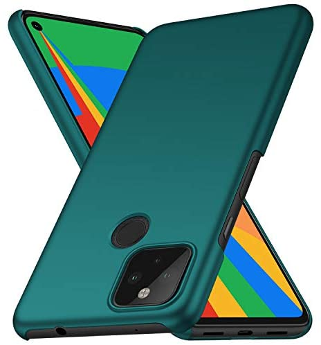 Kqimi Case for Google Pixel 4A 5G, Slim Matte Premium Material Full Protection Cover for Google Pixel 4A 5G 5G (6.2″) 2020 (Green)