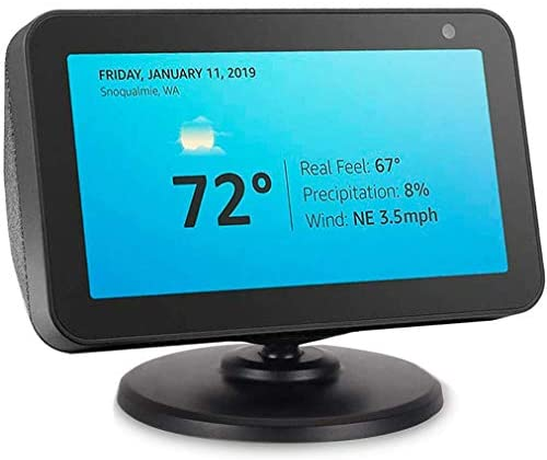 Beuya Adjustable Stand for Echo Spot and Echo Show 5, Smart Speaker Magnetic Base (Black)