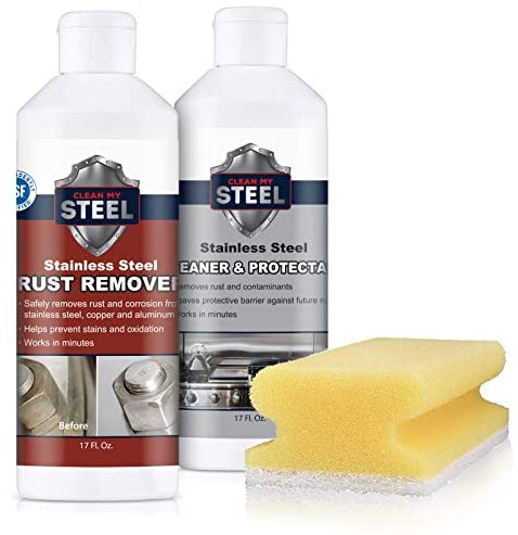 Innoshine B570 Stainless Steel Rust Remover and Innocare B580 Cleaner 17 ounces each