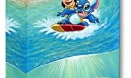 Disney Fine Art Hawaiian Roller Coaster 24 Inches x 8 Inches Treasures on Canvas Lilo and Stitch Reproduction Gallery Wrapped Canvas Wall Art by Tim Rogerson