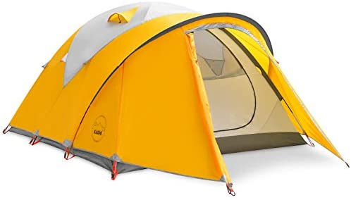 KAZOO Waterproof Backpacking Tent Ultralight 4 Person Lightweight Camping Tents 4 People Hiking Tents Aluminum Frame Double Layer