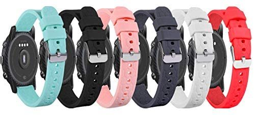 FitTurn Bands Compatible with Lintelek Smartwatch Replacement Watch Bands Sport Straps Silicone Wristband for Lintelek Smartwatch Accessories (SixColors)