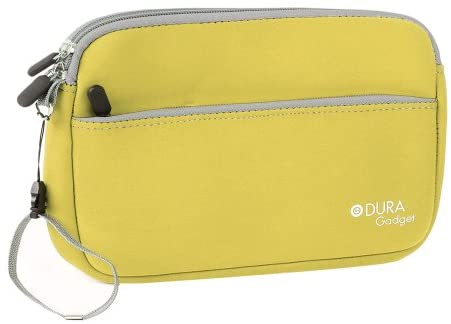 DURAGADGET Yellow Neoprene Protective Pouch w/Front Storage – Compatible with Amazon Kindle Oasis (2017)