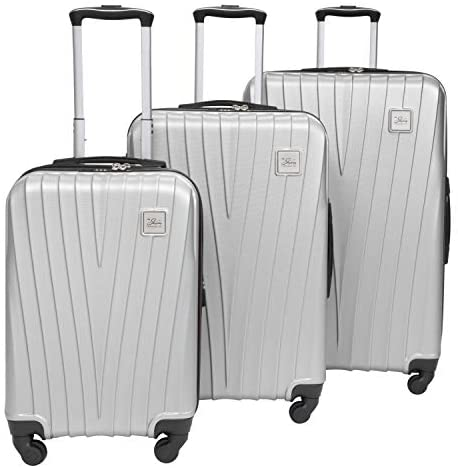 Skyway Epic Hardside 4-Wheel Luggage Spinner Collection (Silver, 3-Piece Set (20/24/28))
