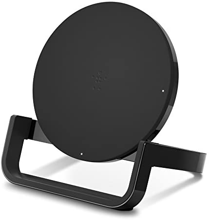 Belkin Boost Up Wireless Charging Stand 10W – Qi Wireless Charger for iPhone 11, 11 Pro, 11 Pro Max, Xs, XS Max, XR/Samsung Galaxy S9, S9+, Note9 / LG, Sony and More (Black) (F7U052dqBLK)