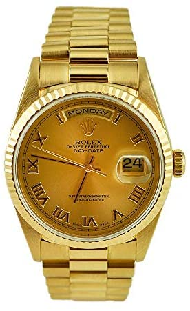 Rolex Mens President Sapphire Gold Watch (Certified Preowned)