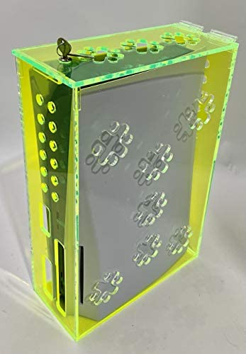 Playstation 5 Security/Protection Box – Fluorescent Green – Compatible with Playstation 5 Standard and Digital