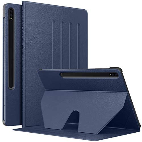 MoKo Tablet Case Compatible with Samsung Galaxy Tab S7 Plus 2020, Slim Cover Shell Case with Auto-Wake/Sleep & Multi-Angle Stand Fit Samsung Galaxy Tab S7 Plus 12.4″ 2020 SM-T970/976/T975, Indigo
