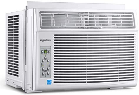 Amazon Basics Window-Mounted Air Conditioner with Remote – Cools 550 Square Feet, 12000 BTU, Energy Star