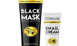 Blackhead Remover Mask, Bamboo Charcoal Peel Off Black face Mask, Purifying and Deep Cleansing mask for All Skin types; Anti-Aging Snail Cream (2.5 fl.oz/ 75ml)