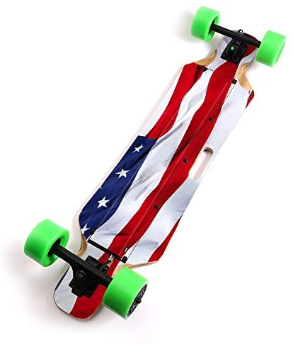 MightySkins Skin Compatible with Blitzart Huracane 38″ Electric Skateboard – American Flag | Protective, Durable, and Unique Vinyl Decal wrap Cover | Easy to Apply, Remove | Made in The USA