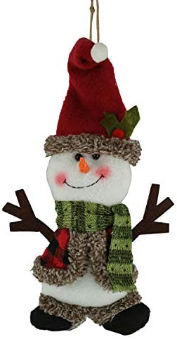 Dazzling Deals Holiday Style Snowman Plush Christmas Ornament