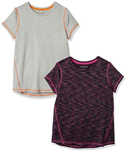 Amazon Essentials Girls' Active Performance Short-Sleeve T-Shirts