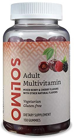 Amazon Brand – Solimo Adult Multivitamin, 150 Gummies, 75-Day Supply