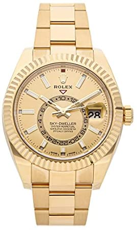 Rolex Sky-Dweller Mechanical(Automatic) Champagne Dial Watch 326938-0003 (Pre-Owned)