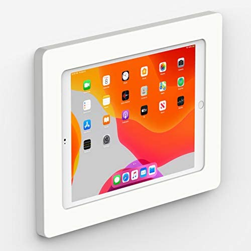 VidaMount White On-Wall Tablet Mount Compatible with iPad 10.2″ (7th & 8th Gen)