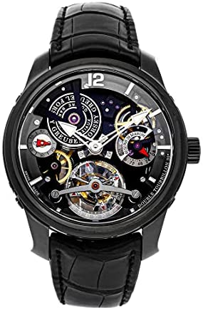 Greubel Forsey Tourbillon Manual Wind Skeleton Dial Watch DBL TRB 30 BLK (Pre-Owned)