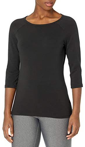 Hanes Women's Stretch Cotton Raglan Sleeve Tee