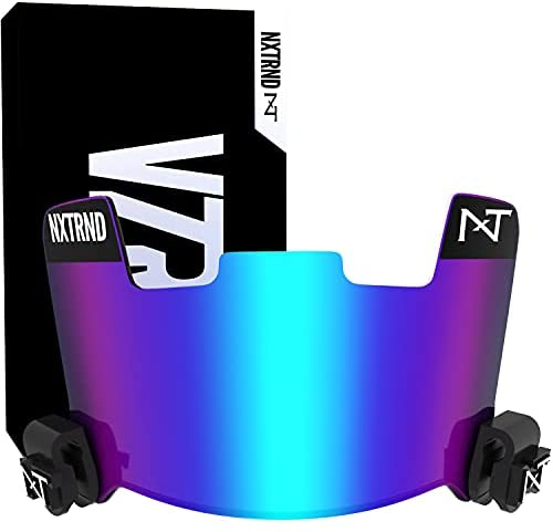 Nxtrnd VZR1 Tinted Football Visor, Professional Football Helmet Visor, Shield Fits Youth Football Helmets & Adult Football Helmets, Includes Visor Clips, Decal Pack, & Cleaning Cloth