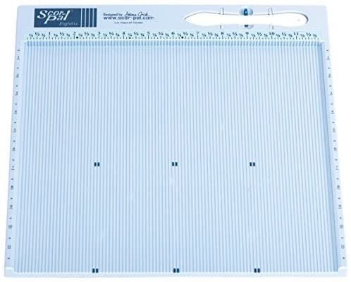 Scor-Pal SP108 Eighths Measuring and Scoring Board, 12″ by 12″, 1/8″ Space Grooves