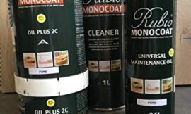 Rubio Monocoat Product Combo: Raw Wood Cleaner, 1.3L Pure 2C Oil, and Univ. Maint Oil (3 Products)