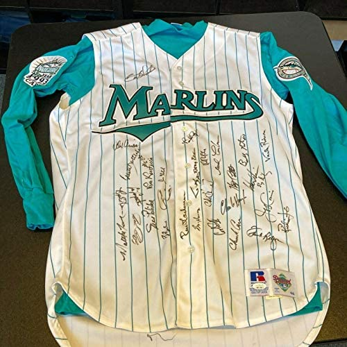 1993 Florida Marlins Inaugural Season Team Signed Sheffield Game Used Jersey JSA – MLB Autographed Game Used Jerseys