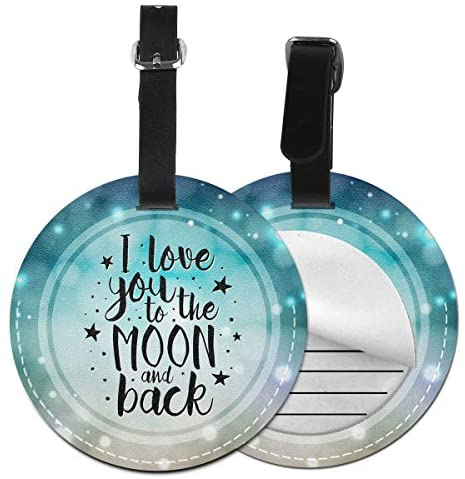 Luggage Tag Cruise Tags Bags & Baggage Tags For Travel Identifier Luggage, Suitcase Identify Label Baggage Name Tags Privacy Bag Tags, (Love You To The Moon And Back)