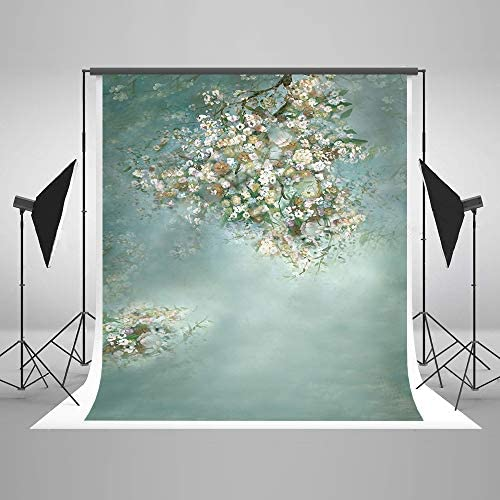 Kate 5x7ft(1.5×2.2m) Fine Art Floral Fantasty Green Backdrop Microfiber Lady Portrait Photography Backdrops for Professional Photographer