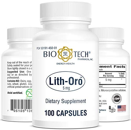 Bio-Tech Pharmacal Lith-Oro Dietary Supplement (5mg, 100 Count)