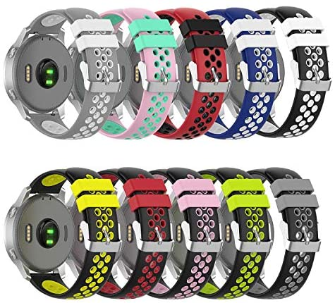 Smart Watch Bands Soft Silicone Replacement Straps for Willful ID205L/Yamay SW020,SW021,SW025/ID205U,ID205S,ID205G Watch(10Pack)