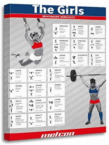 TORASS Canvas Wall Art Print The Girls Benchmark Fitness Workouts Functional Training Artwork for Home Decor 16″ x 20″