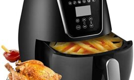 NAVU Air Fryer XL 5.3QT/5L, 1800-Watt Digital Hot Air Fryers Oven for Roasting, Oilless Cooker for Healthy Frying with Rapid Air, Adjustable Temperature and Timer Function, LED Touch Screen, 6 Frying Modes