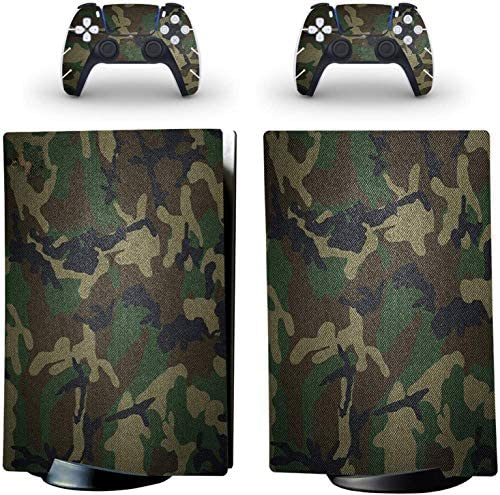 YK MALL PS5 Console PS5 Stickers Vinyl Camouflage Tarmac Skin Pattern Decals Skin Sticker for PS5 Playstation 5 Console and 2 Controller (Playstation 5 Digital Edition)