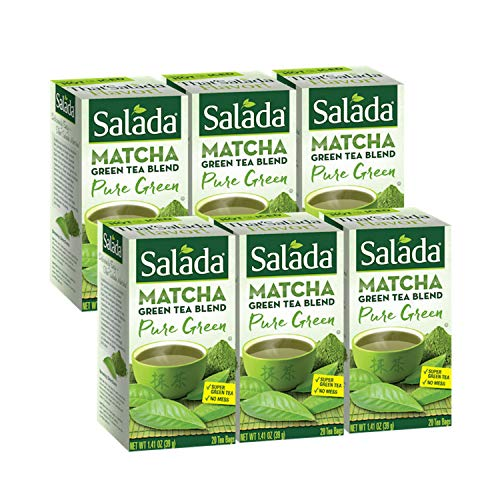 Salada Matcha Green Tea Blend, 120 Individually Wrapped Tea Bags (Pack of 6)