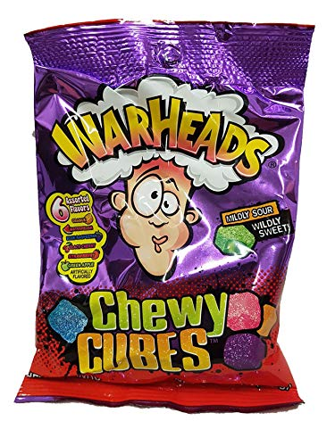 Warheads Chewy Cubes Mildly Sour Wildly Sweet Bag, 5 oz.